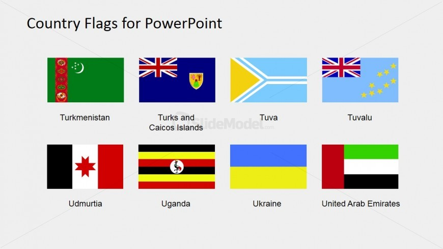 PowerPoint Shapes of Country Flags (S to Z)