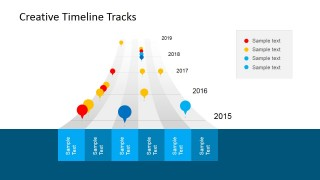 Timeline Tracks & Bubble Clipart for PowerPoint