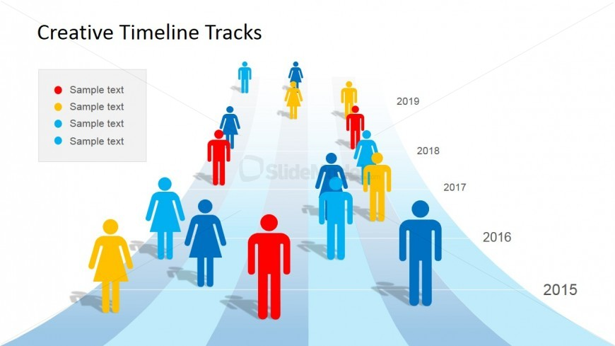 People & Timeline Clipart for PowerPoint