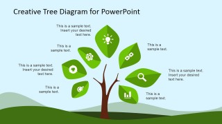 Tree & Plant Clipart for PowerPoint with Icons