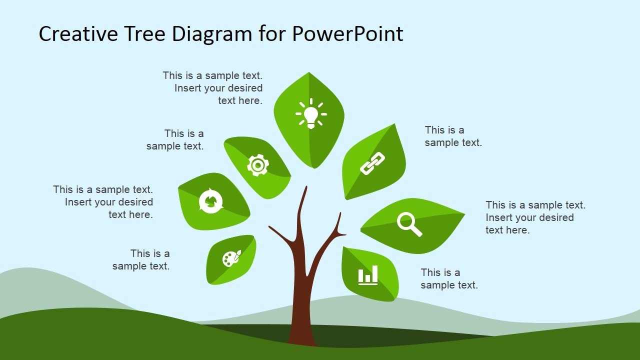 creative tree diagram powerpoint template