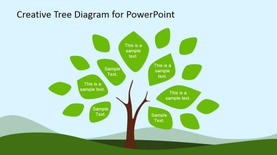 Tree Diagram Clipart for PowerPoint & Leaves
