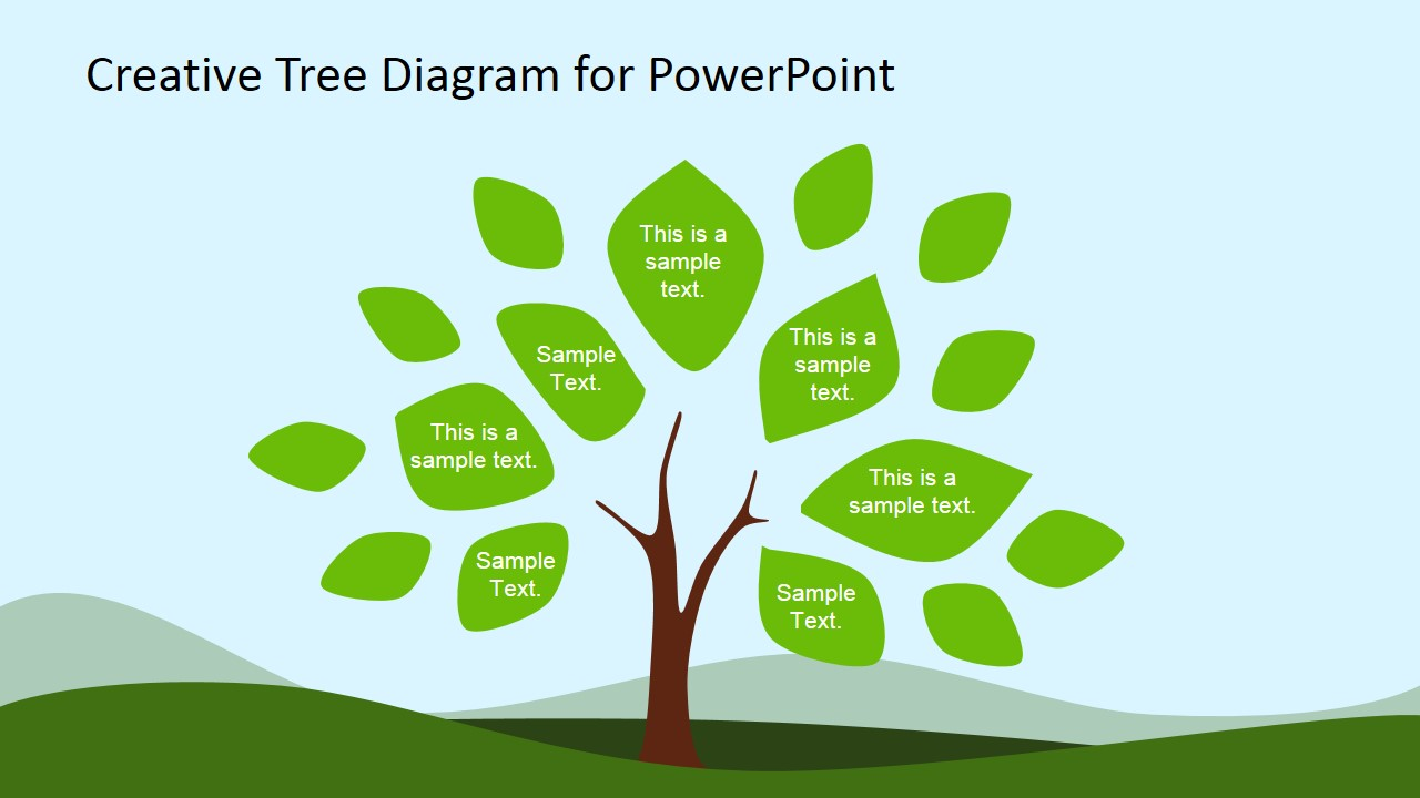 creative tree diagram powerpoint template   slidemodel    tree diagram clipart for powerpoint  amp  leaves