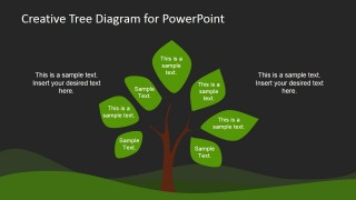 Dark Simple Tree Diagram Design for PowerPoint