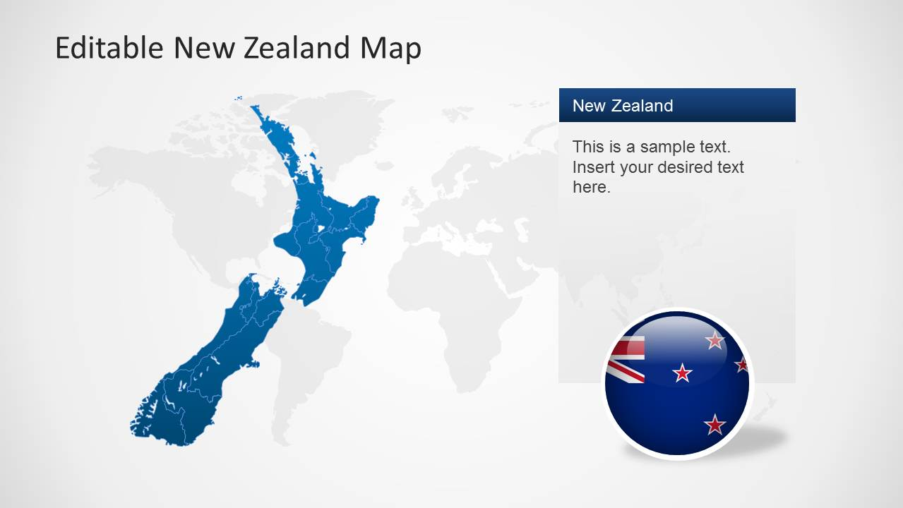 Editable new zealand map powerpoint template slidemodel new zealand illustration map for powerpoint toneelgroepblik Choice Image