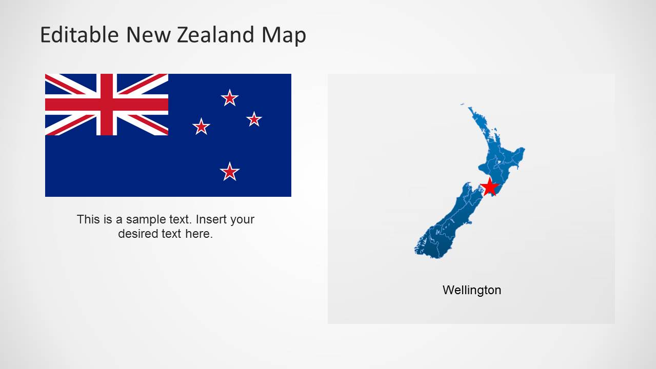 Editable new zealand map powerpoint template slidemodel powerpoint flag of new zealand wellington toneelgroepblik Choice Image