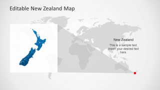 New Zealand Map Template Design over a World Map