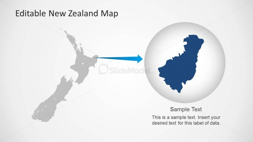 Map of New Zealand Clipart for PowerPoint