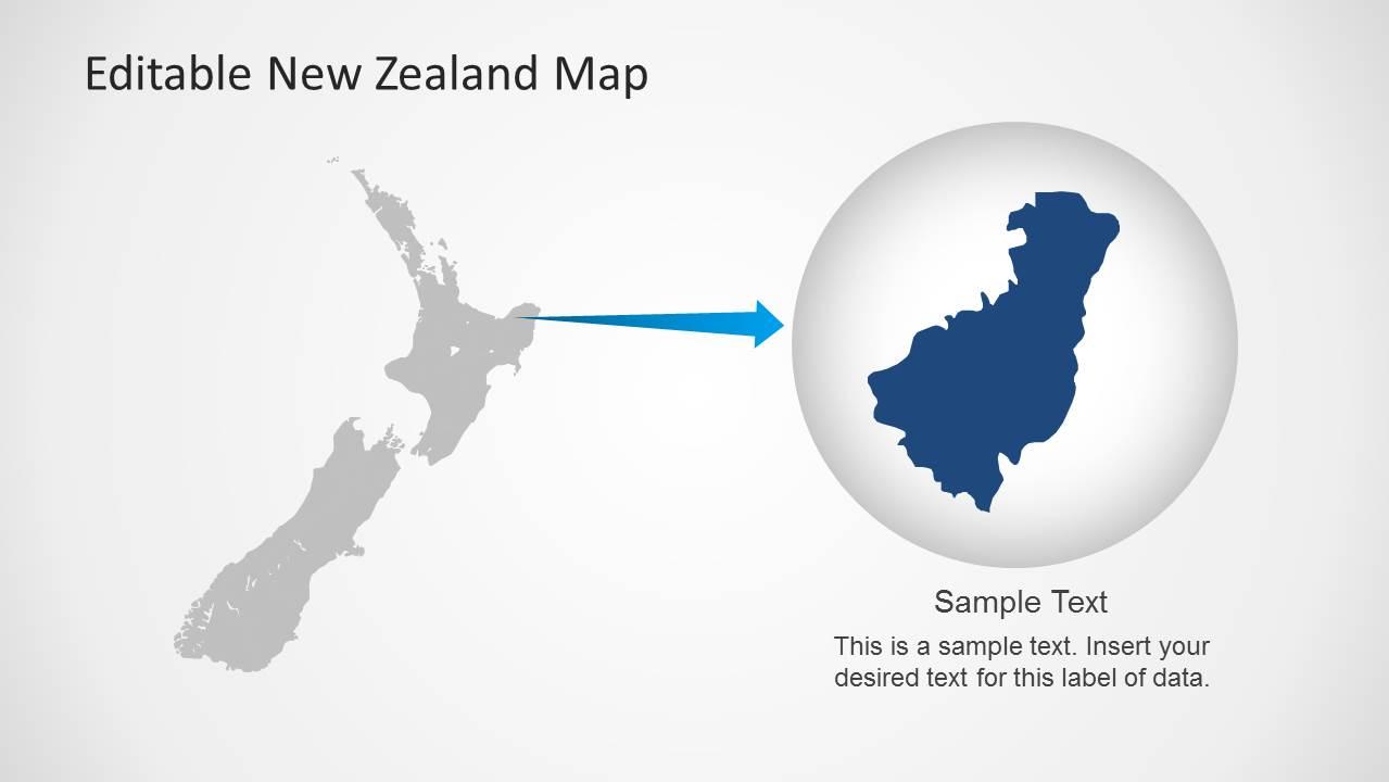 Editable new zealand map powerpoint template slidemodel map of new zealand clipart for powerpoint toneelgroepblik Gallery