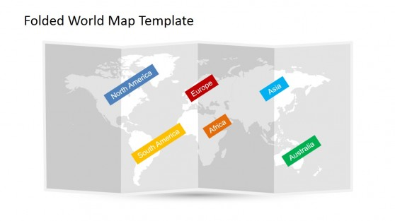 World Continents Label for PowerPoint