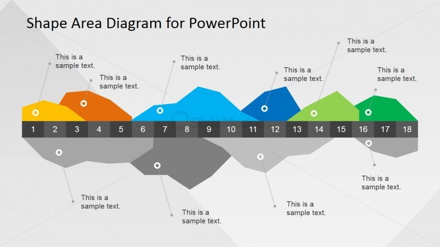 Infographics Data Area Chart for PowerPoint