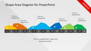 Animated Infographics Data Area Chart Slide