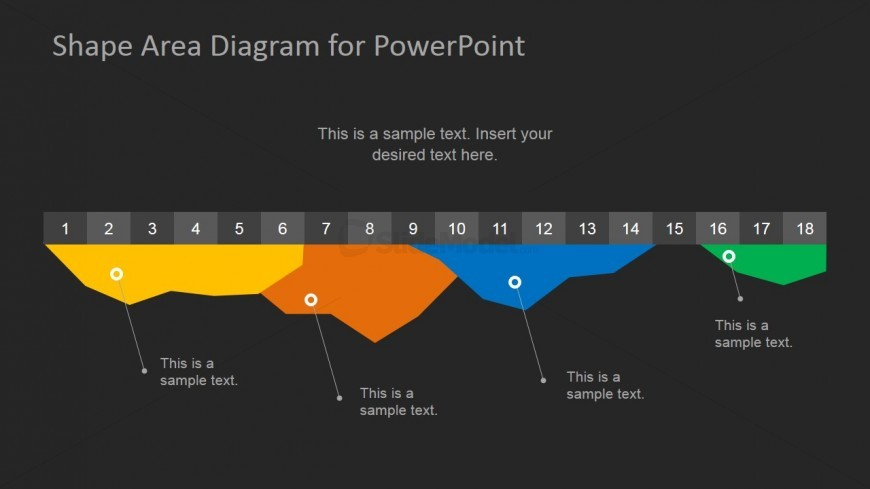 Inverted Area Chart Design for PowerPoint