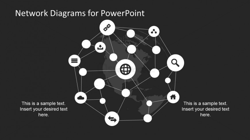 Connectivity Network Diagram for PowerPoint
