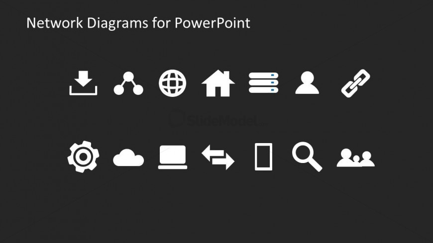 Collection of network diagram icons for powerpoint slidemodel collection of network diagram icons for powerpoint ccuart Choice Image