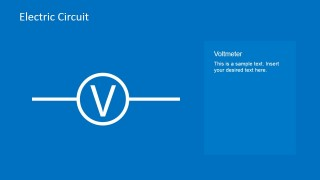 Electric Circuit Voltmeter PowerPoint Slide