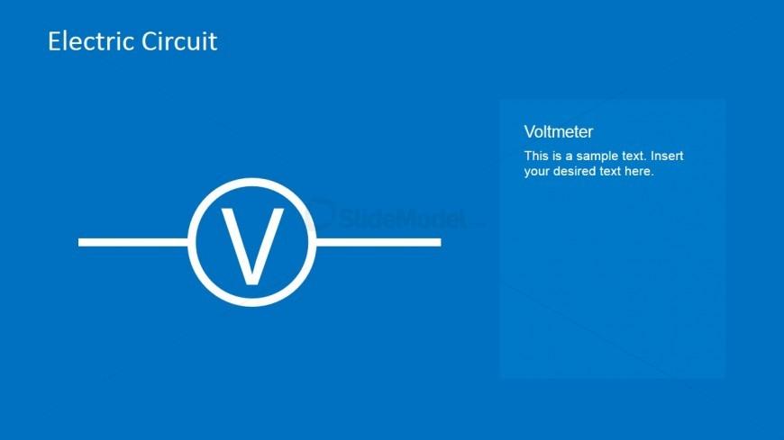 Electric Circuit Voltmeter PowerPoint Slide