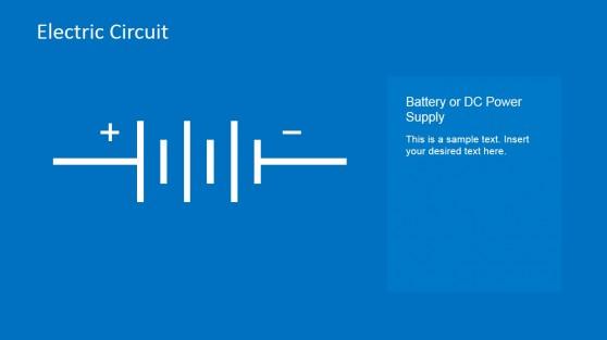 Battery Circuit Design PowerPoint Template