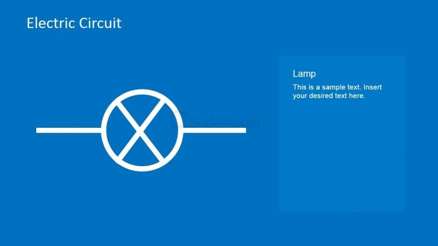Lamp Circuit Symbol PowerPoint Slide