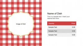 Name of Dish Slide Design for PowerPoint
