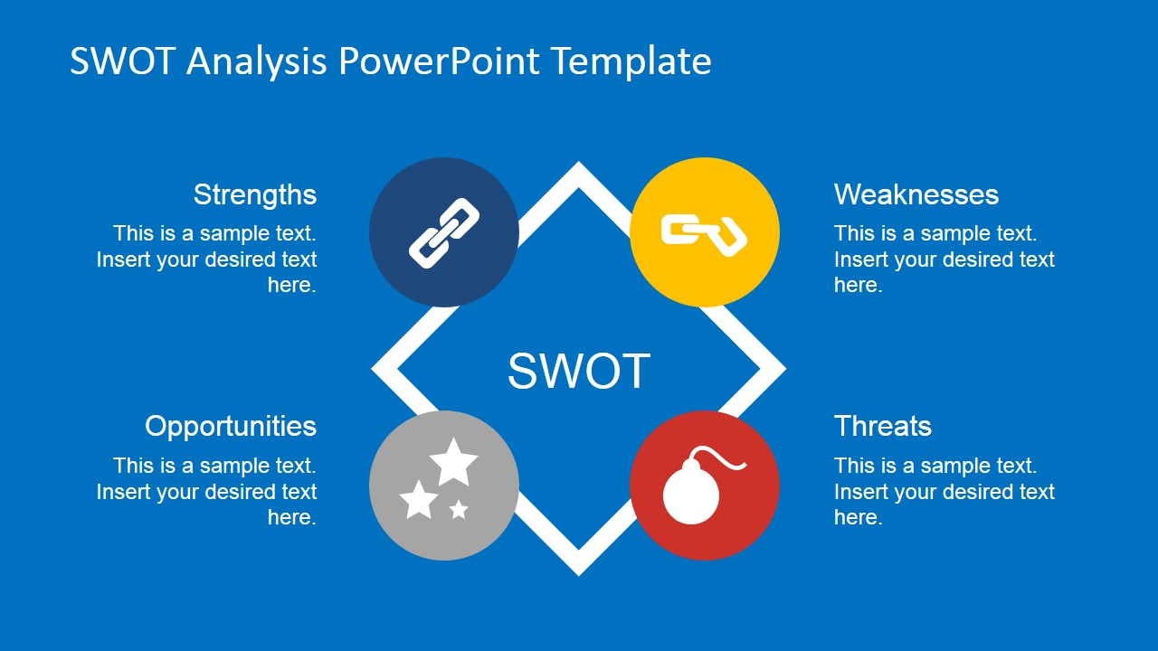 Flat swot analysis powerpoint template slidemodel flat swot analysis powerpoint template toneelgroepblik Image collections