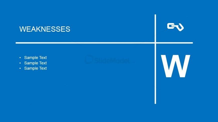 Weakness Slide Design for PowerPoint