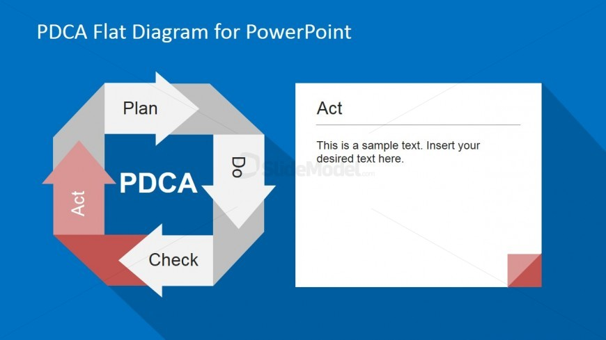 PowerPoint Slide of PDCA Diagram Act Stage