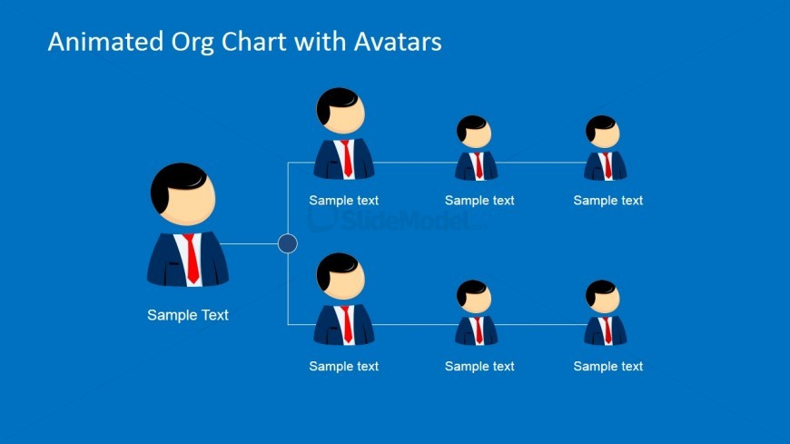 Animated Organizational Chart Slide for PowerPoint