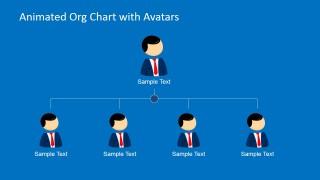 2 Level Organization Chart Slide