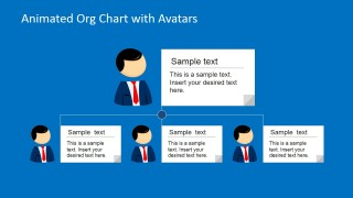 Animated Org Chart PowerPoint Template - SlideModel
