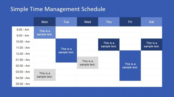 Week Schedule PowerPoint Template