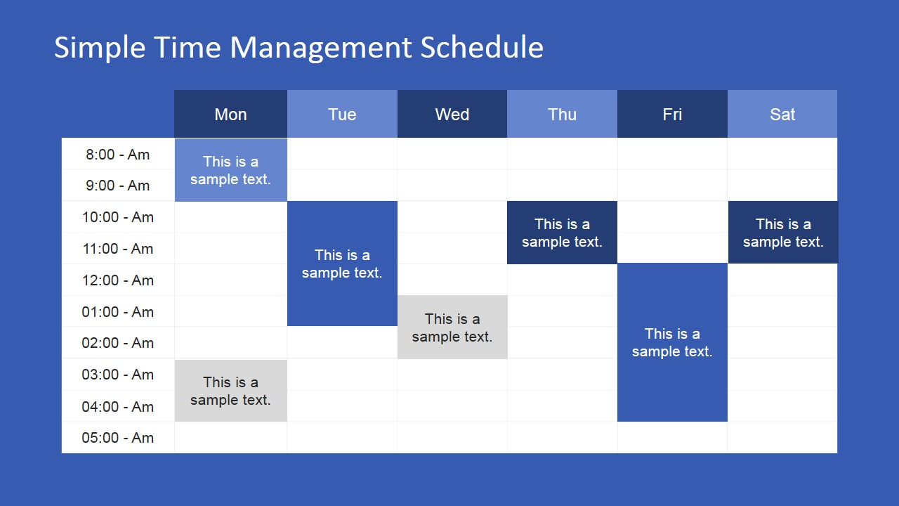 Simple time management powerpoint table slidemodel team time management powerpoint presentation weekly timeline powerpoint presentation toneelgroepblik Gallery