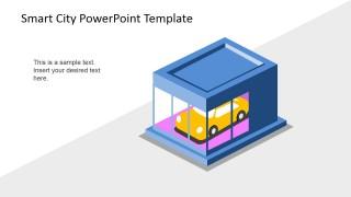 PowerPoint 3D Shape of Smart Car Concept