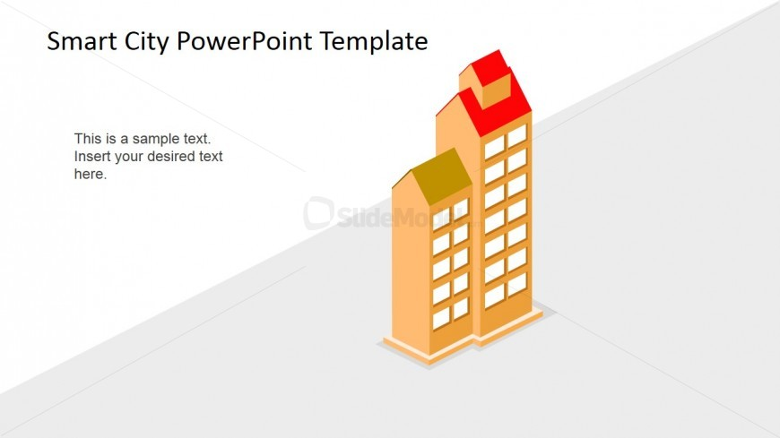 PowerPoint 3D Shapes of Smart Apartment