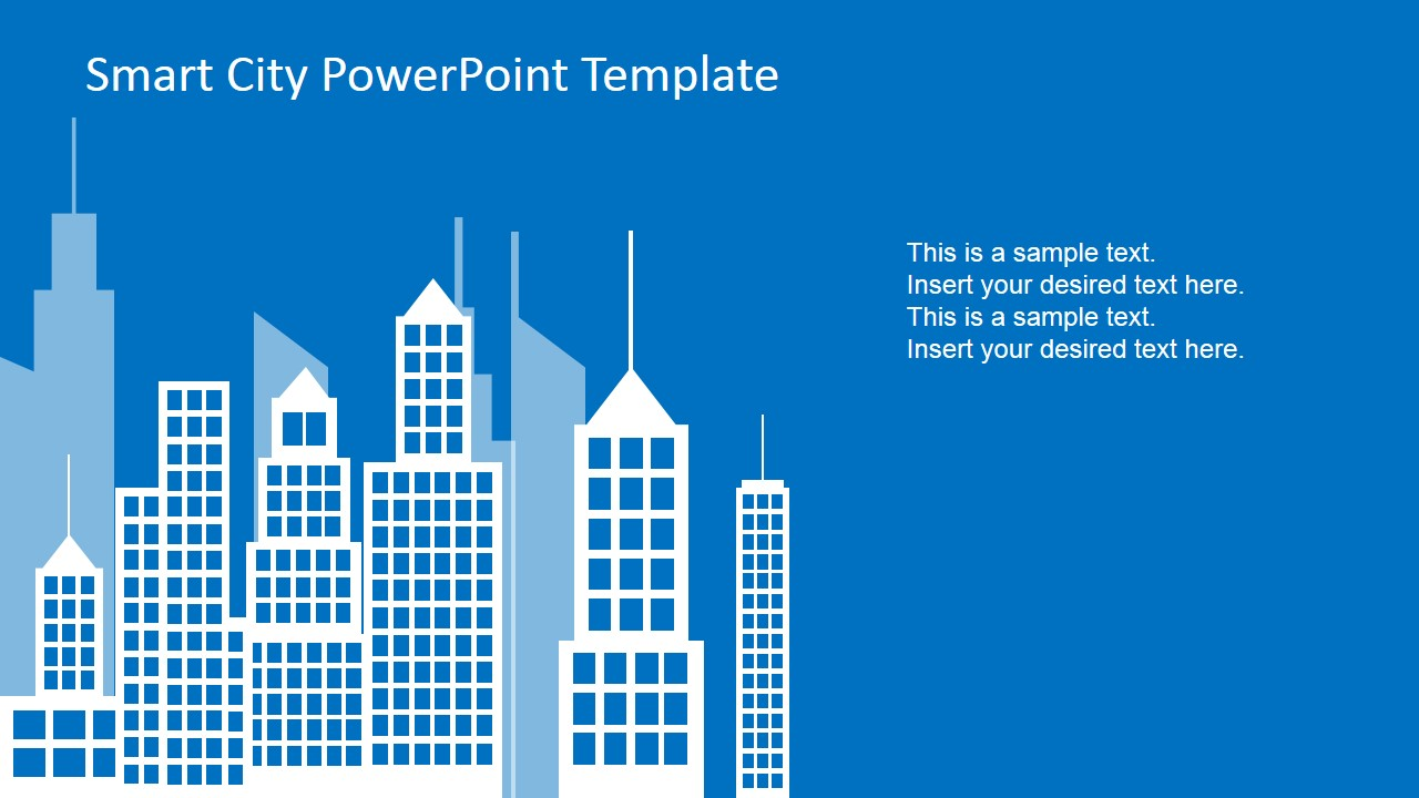 Smart city powerpoint template slidemodel smart city background in flat design toneelgroepblik Choice Image