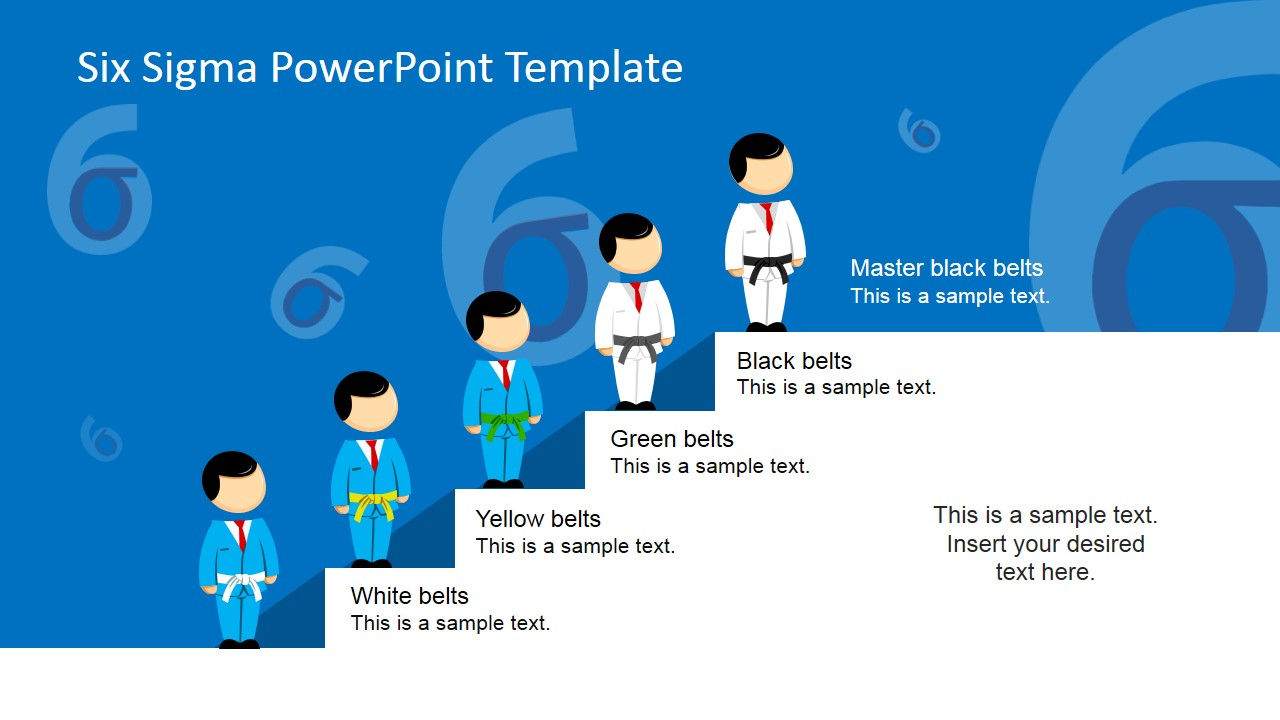 six sigma black belt project template - six sigma belt hierarchy powerpoint template slidemodel