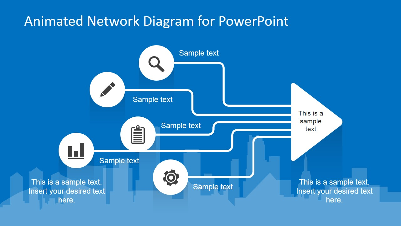 animated network diagram powerpoint template - slidemodel, Modern powerpoint