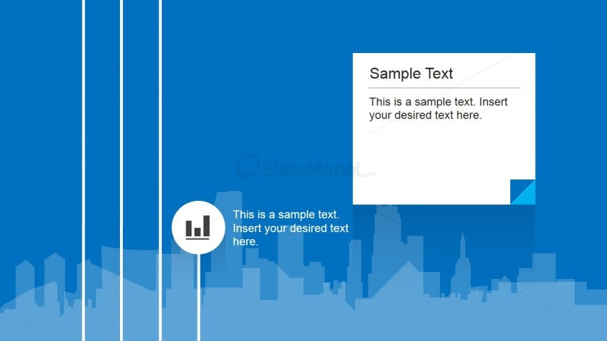 Bar Chart Icon PowerPoint Slide