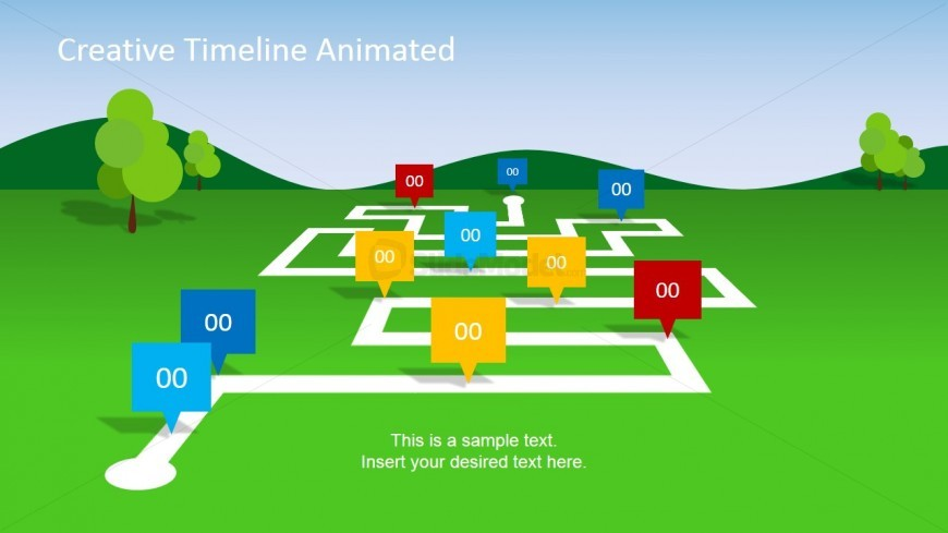 Lush Timeline PowerPoint Slide