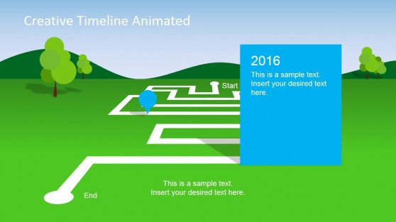PowerPoint Landscape Timeline Template