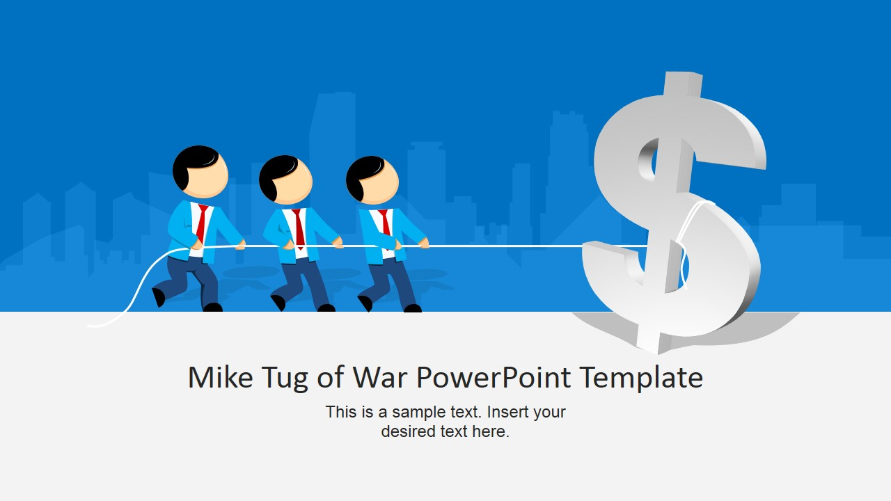 Mike Tug of War Clipart Design with Dollar Sign