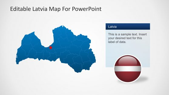 Latvia Political Outline Map for PowerPoint