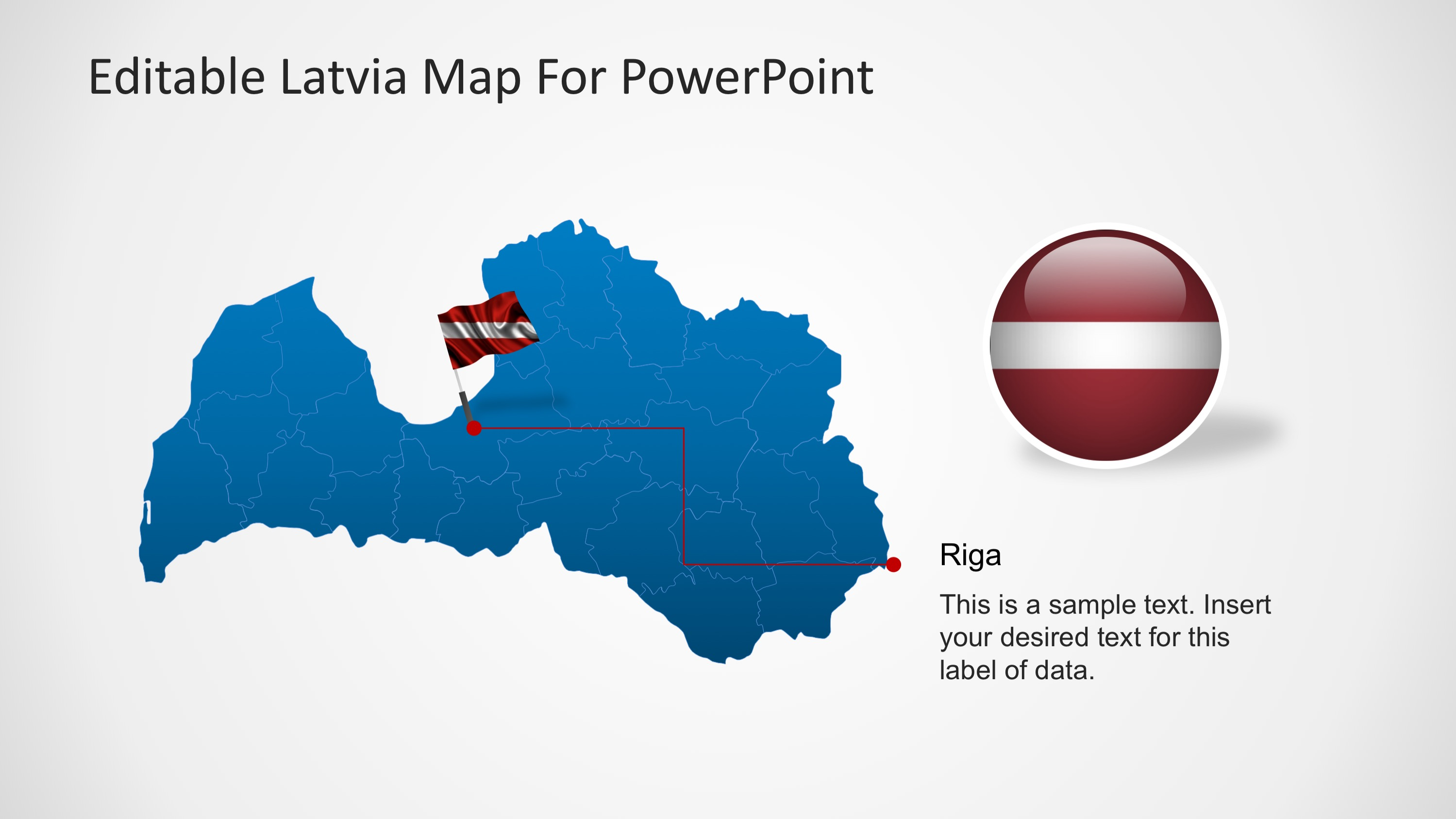 editable latvia powerpoint map slidemodel