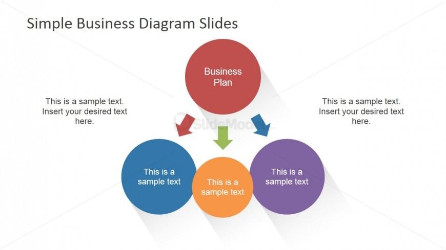 Simple Diagram Design Main Concept & 3 Sub-Concepts
