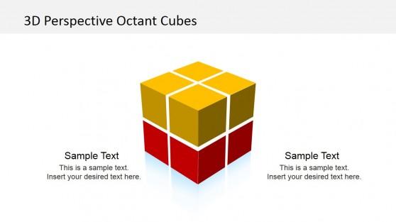 3D Cube Octant PowerPoint Template
