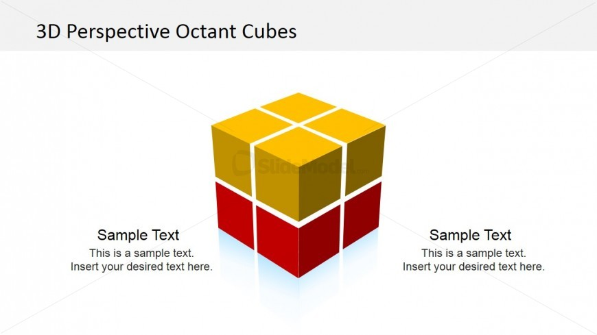 3d cube octant powerpoint template - slidemodel, Modern powerpoint