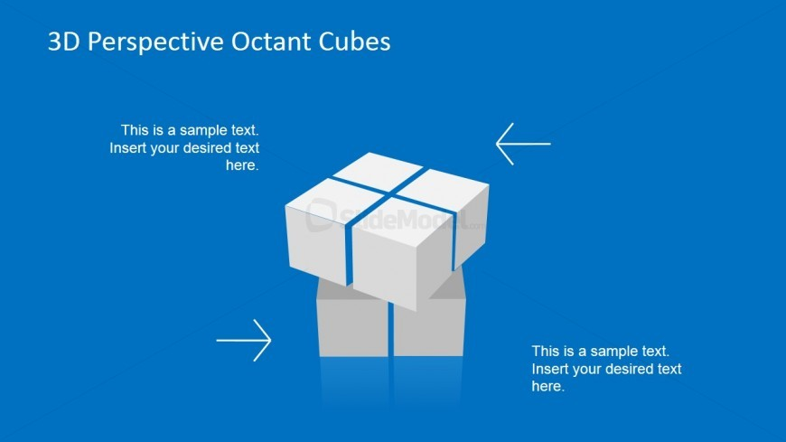 3 Dimensional Cube PowerPoint Slide