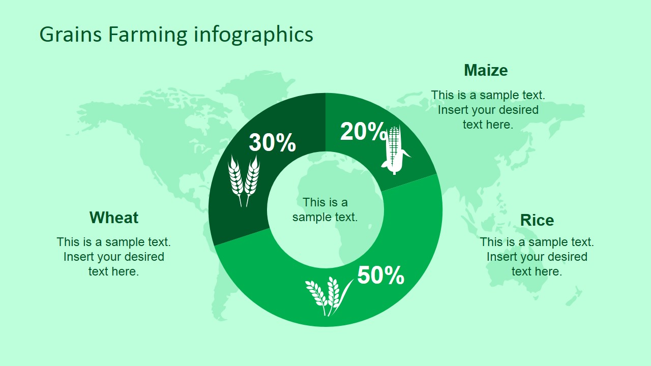 professional farming grains powerpoint infographic