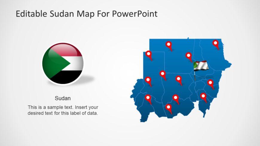 Editable Sudan Map PowerPoint