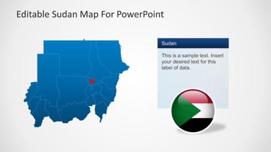 Editable Sudan Map Template